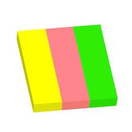 Indeksi 25x75mm, 100 lapiņas, 3 neon krāsas, papīra