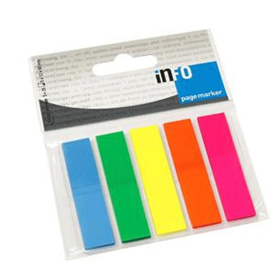 Индексы INFO 12x50мм/5 цветов x 25 листов