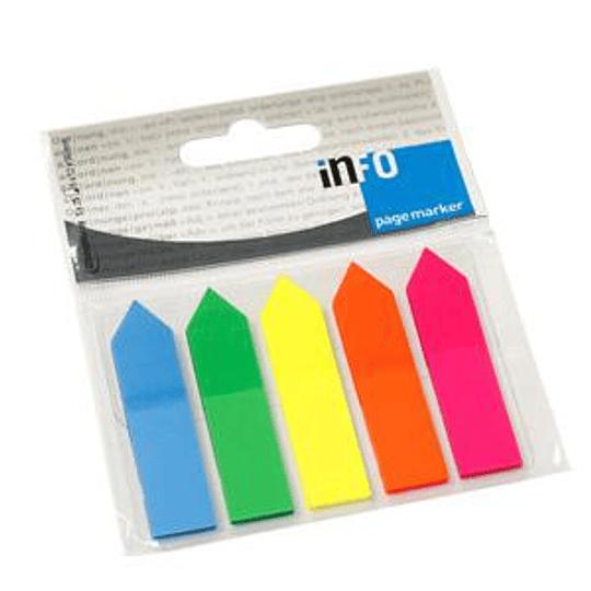 Индексы INFO 12x50мм/5 цветов x 25 листов, стреловидные
