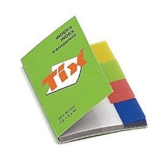 Индексы 20x50мм/4 цвета x 40штук AERO Tix