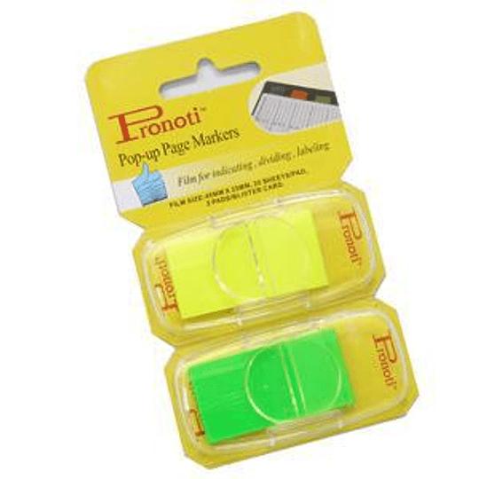Индексы 25x48мм 2 цвета .x20 шт желтый / зеленый