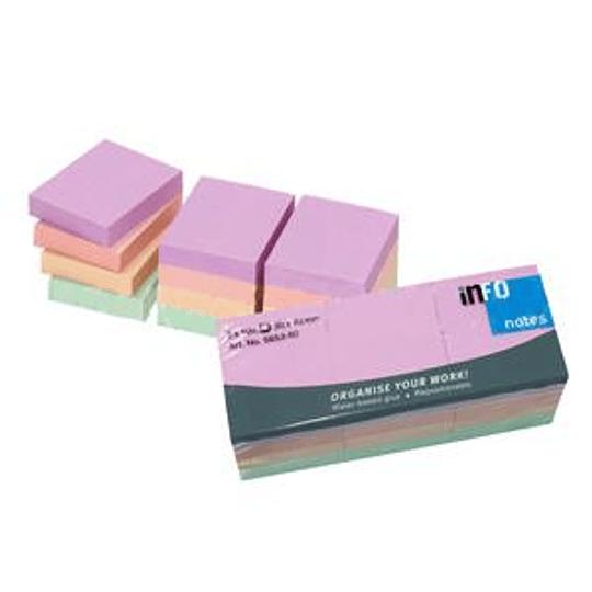Стикеры INFO Harmonie 40x50мм, 12 шт. (4 пастельных цвета х 3 блока)
