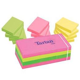 Стикеры 3M Tartan, 38x51мм, 12 шт., ассорти, неоновые цвета