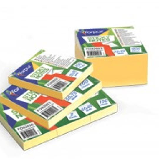 Стикеры FORPUS 50 х 75 мм 100 страниц, желтые