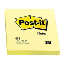 Стикеры 3M Post-it 76x76mm/100 листов, жёлтые