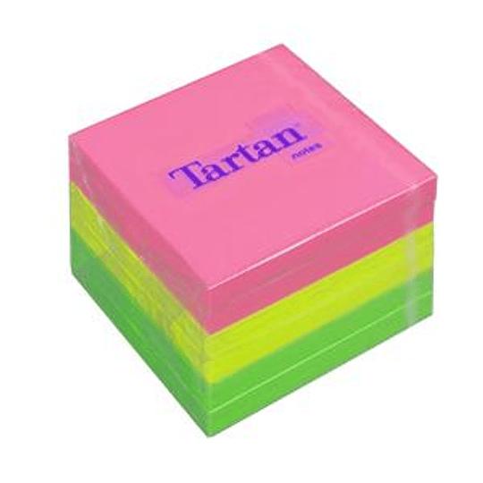 Стикеры 3M Tartan, 76x76мм, 6 шт., ассорти, неоновые цвета
