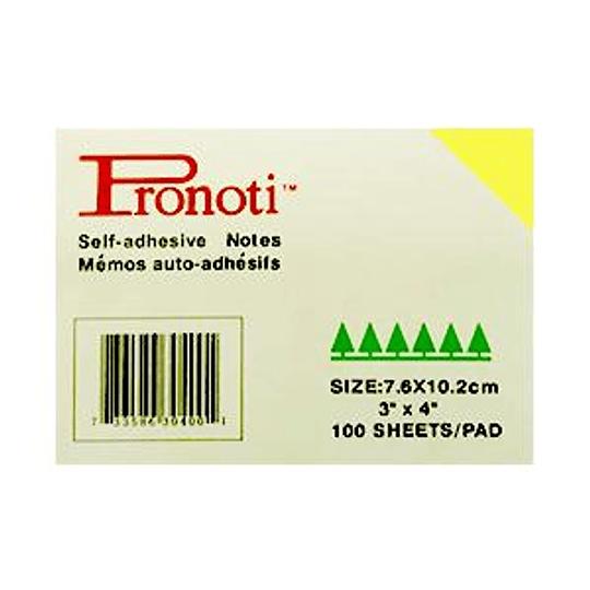 Стикеры 102x76 Pronoti, желтые
