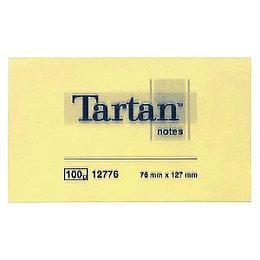 Līmlapiņas 3M Tartan 76x127mm, 100 lapas, dzeltenas
