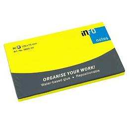 Līmlapiņas 125x75mm NEON dzeltenas INFO