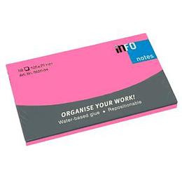 Līmlapiņas 125x75mm NEON rozā INFO