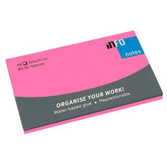 Стикеры INFO NEON 76x127мм/80 листов, розовые