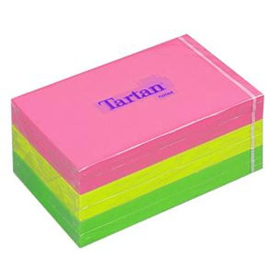 Стикеры 3M Tartan, 127x76мм, 6 шт., ассорти, неоновые цвета