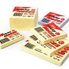 Стикеры FORPUS 125x75мм, 100 листов, желтые