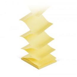 Стикеры Z-образные, 75 x 75mm, желтые