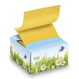 Z-līmlapiņu kubs 3M Post-it dzeltens 76x76mm 200 lapas