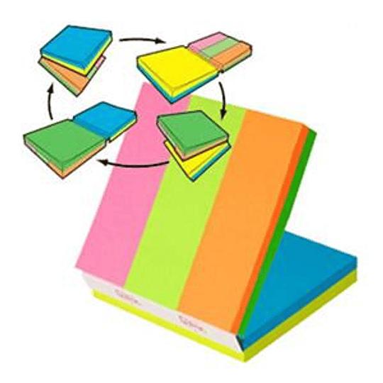 Кубик стикеров 3M Post-it MULTI 76x76мм/150 листов + 25x76мм/150 листов