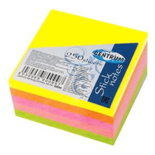Стикеры 51x51/250 НЕОН 5-и цветные