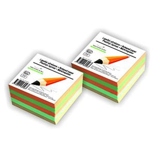 Бумага для заметок склеенная 90x90мм/500листов цветная SMILTAINIS
