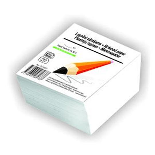 Бумага для заметок 80x80мм/500листов белая SMILTAINIS