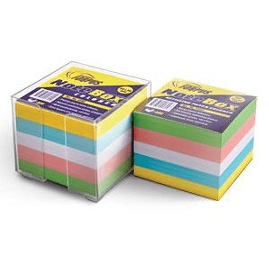 Бумага для заметок в коробке 90x90мм/800листов цветная FORPUS