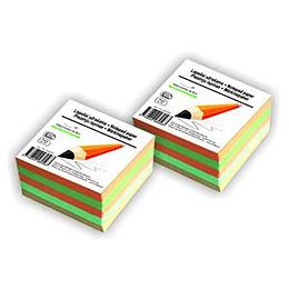 Бумага для заметок 90x90мм/500листов цветная SMILTAINIS