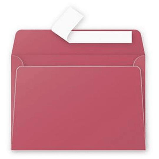 Конверт C6 (114x162мм) бордового цвета