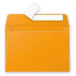 Конверт С6 (114х162мм) оранжевого цвета