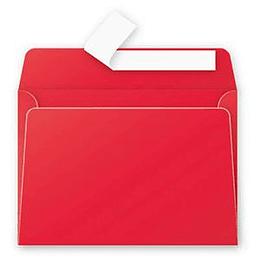 Конверт С6 (114х162мм) ярко-красный