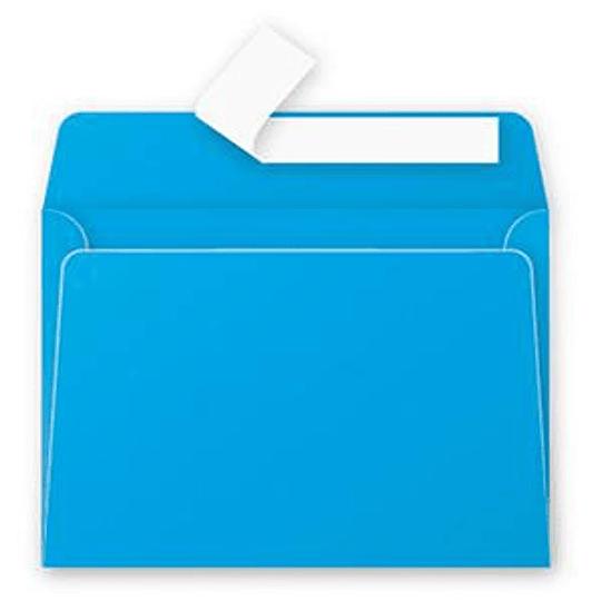 Конверт С6 (114х162мм) синего цвета