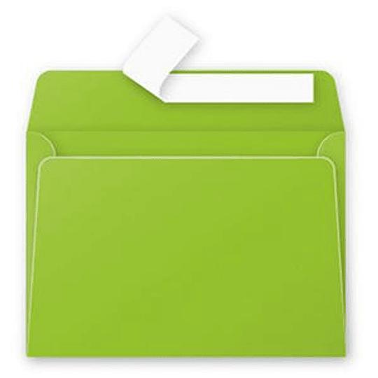 Конверт С6 (114х162мм) зеленого цвета