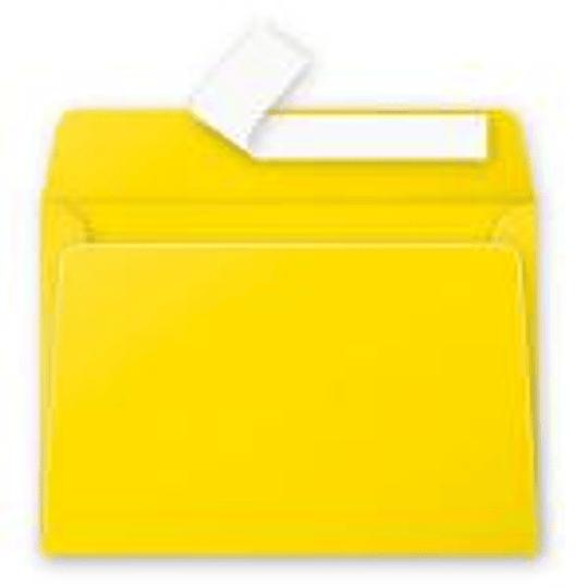 Конверт С6 (114х162мм) желтого цвета