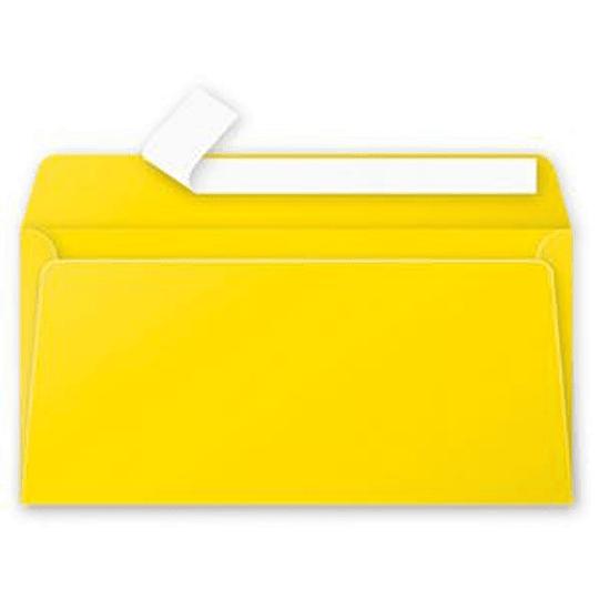 Конверт C65 110x220 мм жёлтый