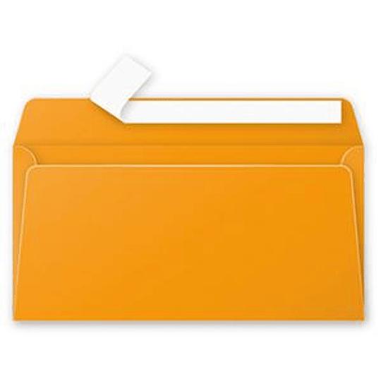 Конверт C65 110x220 мм оранжевый
