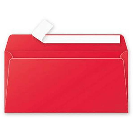 Конверт C65 110x220 мм ярко-красный