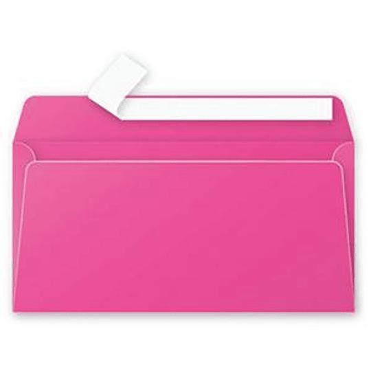 Конверт C65 110x220 мм розовый