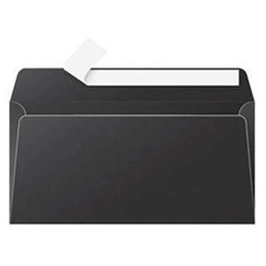 Конверт C65 110x220 мм черный