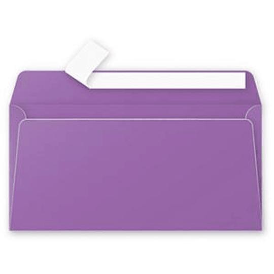 Конверт C65 110x220 мм фиолетовый