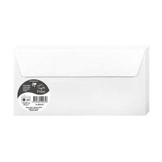 Конверт С65 (110х220мм) белый глянцевый