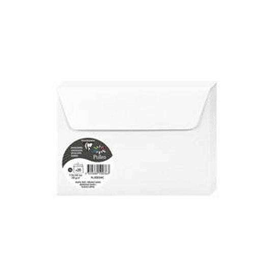 Конверт C6 114x162 белый с блеском