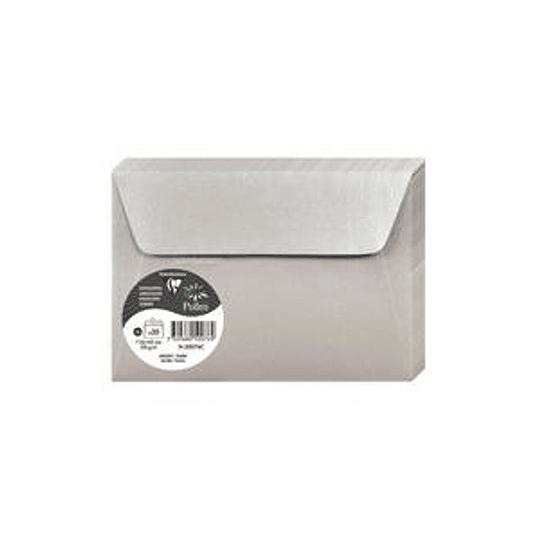 Конверт C6 114x162мм с блеском серебра
