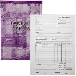 Faktūrrēķins A5 2-kārt. 25 kompl.