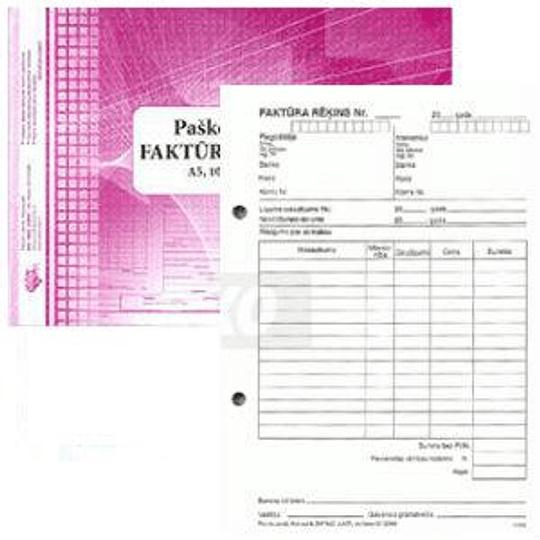 Cчёт-фактура, копирующийся A5V