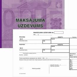 Maksājuma uzdevums A5 3-slāņu 25 kompl.