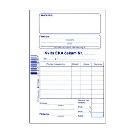 Чековый квиток EKA A6/100 листов