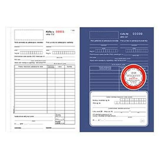 Квитанция подтверждающая сделку 3-х слойная 25 комплектов