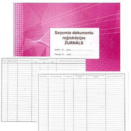 Журнал регистрации полученных документов ABC A4Ž, 48 листов