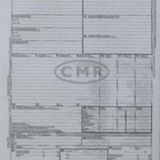 Таможенная декларация CMR номерная (6 экземпляров)