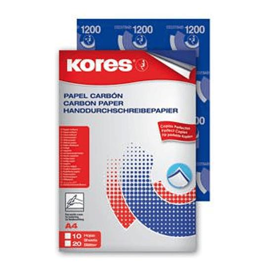 Копировальная бумага KORES A4/10 листов синяя