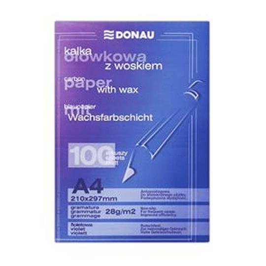 Копировальная бумага A4/100 листов, фиолетовая