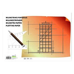 Milimetru papīrs A4, 20 lapas, SMLT